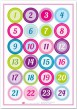 Adventskalender Sticker bunt
