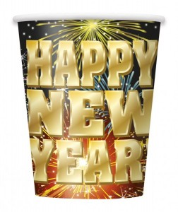 8 Becher Happy New Year