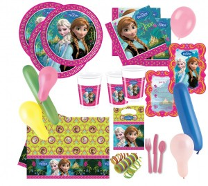 110 Teile Eiskönigin Frozen Party Deko Set für 6-8 Kinder