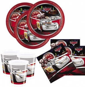 36 Teile Disney Cars Silver Edition Party Deko Set