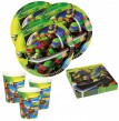 36 Teile Ninja Turtles Party Deko Basis Set - für 8 Kinder