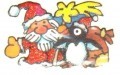 Weihnachtsmann & Pinguin Mini Sticker - ItSticks