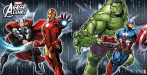 Avengers Multi Heroes Wandposter