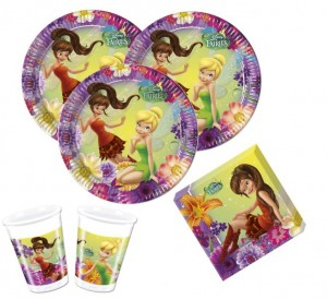36 Teile Tinkerbell Nimmerbiest Party Deko Set für 8 Kinder
