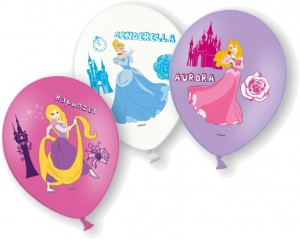 6 Luftballons Disney Princess
