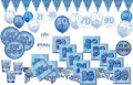 8 Happy Birthday Party Teller Blau