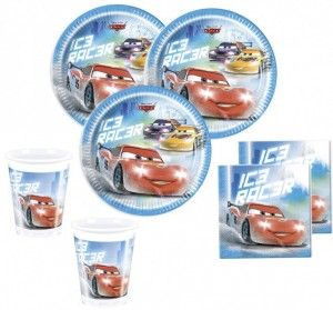 52 Teile Disney Cars Ice Racer Party Deko Basis Set - für 16 Kinder