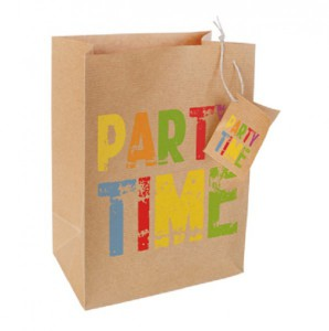 It's Party Time - Dekotüte aus Packpapier