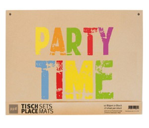 It's Party Time - 12 Platzsets aus Packpapier