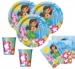 48 Teile Hawaii Party Deko Set Hula Beach 16 Personen