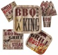 8 kleine Papp Teller Barbecue King