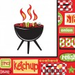 32 Teile Grill Party Deko Set Chill + Grill 8 Personen