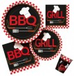8 kleine Papp Teller Grill Party BBQ Chef
