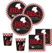 48 Teile Grill Party Deko Set BBQ Chef 16 Personen
