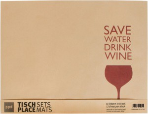 Save Water - 12 Platzsets aus Packpapier