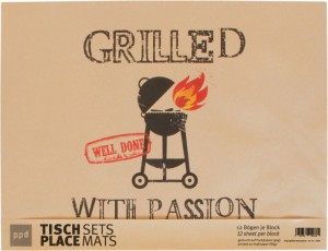 Grilled With Passion - 12 Platzsets aus Packpapier