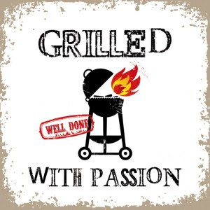 Grilled With Passion White Servietten