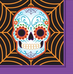 16 Halloween Servietten Day of the Dead