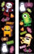 48 kleine Halloween Monster Sticker Bogen