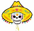 XXL Halloween Folienballon Day of the Dead Sombrero