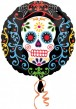 Halloween Folienballon Day of the Dead Totenkopf