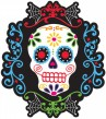 Day of the Dead Totenkopf kleines Pappschild 26cm