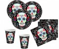 8 große Halloween Papp Teller Day of the Dead