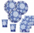 32 Teile Schneeflocken Party Deko Set 8 Personen