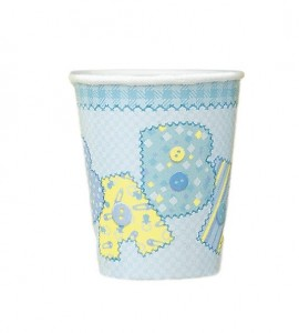 8 Becher Baby Party blau