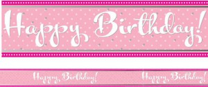 Folien Banner Perfectly Pink Happy Birthday