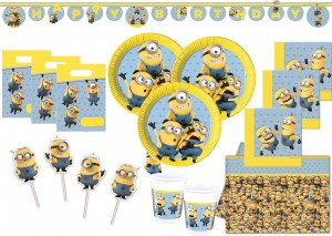 XXL+ Minions Party Deko Set für 16 Kinder