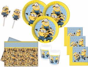 71 Teile Minions Party Deko Set für 16 Personen