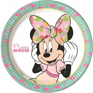 52 Teile Disney Minnie Maus Tropical Party Deko Basis Set - für 16 Kinder – Bild 2