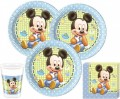 36 Teile Disney Baby Micky Party Deko Set für 8 Personen