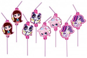 8 Trinkhalme Littlest Pet Shop