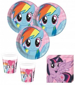36 Teile My Little Rainbow Pony Party Set für 8 Kinder
