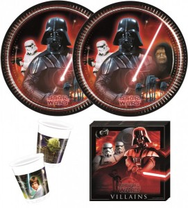36 Teile Star Wars Classic Party Deko Basis Set für 8 Personen