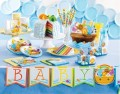Babyshower Girlande am Satinband Arche Noah