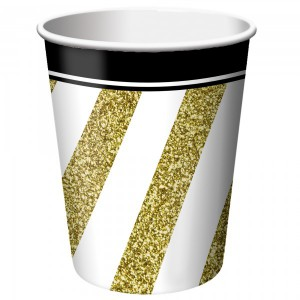 8 Becher Black and Gold