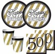 16 Servietten 50. Geburtstag Black and Gold