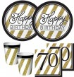 16 Servietten 70. Geburtstag Black and Gold