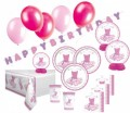 XXL 72 Teile Pink Ballerina Party Deko Set für 16 Kinder