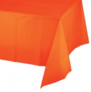 Plastik Tischdecke in Orange