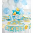 XXL 61 Teile Baby Entchen Babyshower Baby Party Deko Set 16 Personen