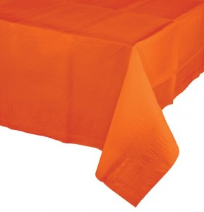 Papier Tischdecke Orange