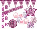 Dekorations Set zum 18. Geburtstag Party Set in Pink