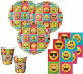 48 Teile Smiley Emoticons Basis Party Deko Set für 16 Personen