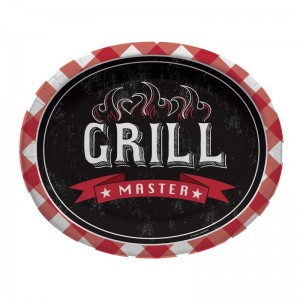 8 ovale Papp Teller Grill Meister