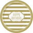 8 Teller Happy Birthday Gold