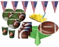 XXL 73 Teile Football Superbowl Party Deko Set 16 Personen